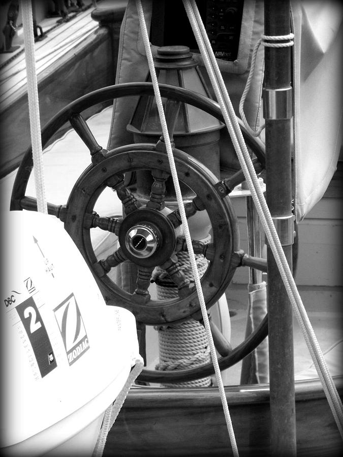 Landscape Photograph - At The Wheel Bw by Dancingfire Brenda Morrell
