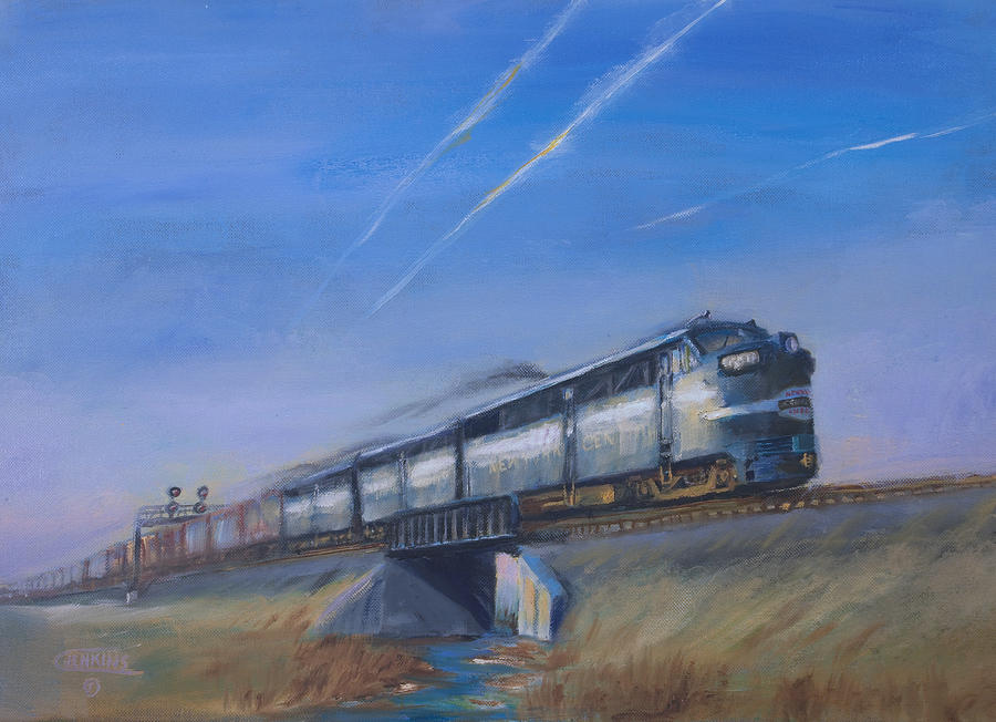 Train Painting - At Track Speed by Christopher Jenkins