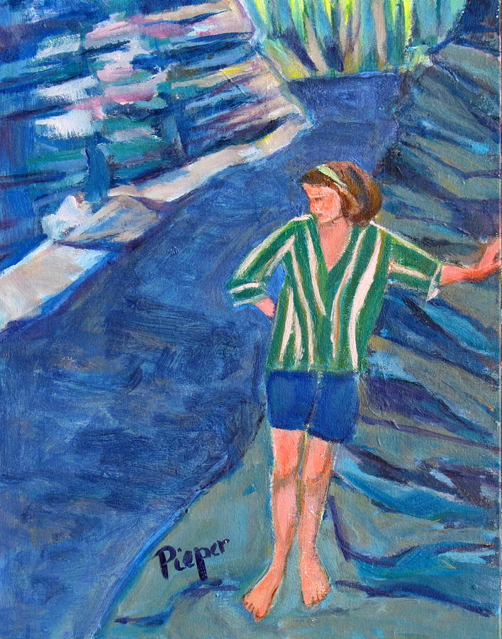 Mohawk Valley Painting - At Wintergreen Park Canajoharie 1957 by Betty Pieper