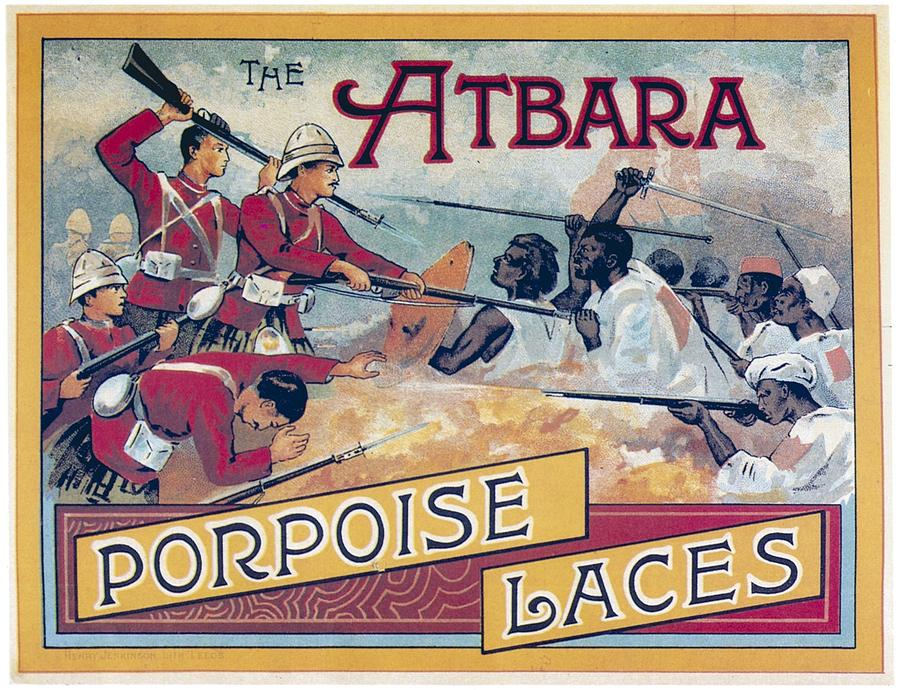 Atbara Porpoise Laces Vintage Ad by Gianfranco Weiss
