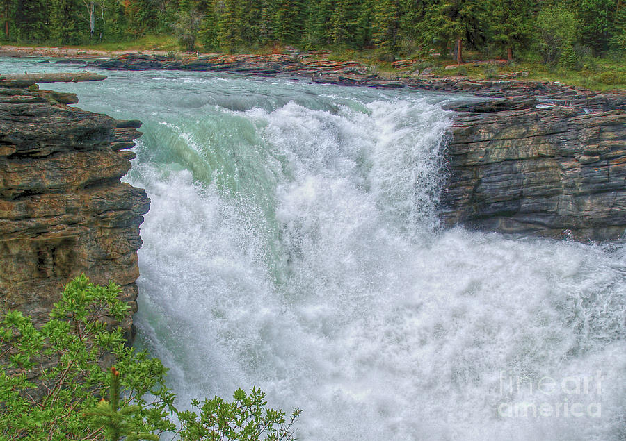 Athabasca Falls Photograph - Athabasca Falls Study V Close-up by Skye Ryan-Evans