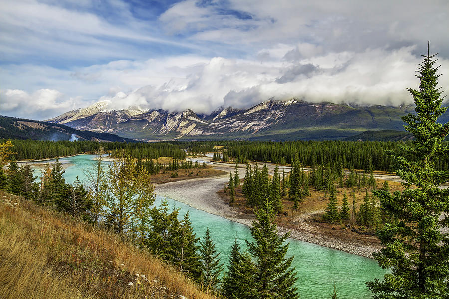 Athabasca River Photograph by Ed Cheung