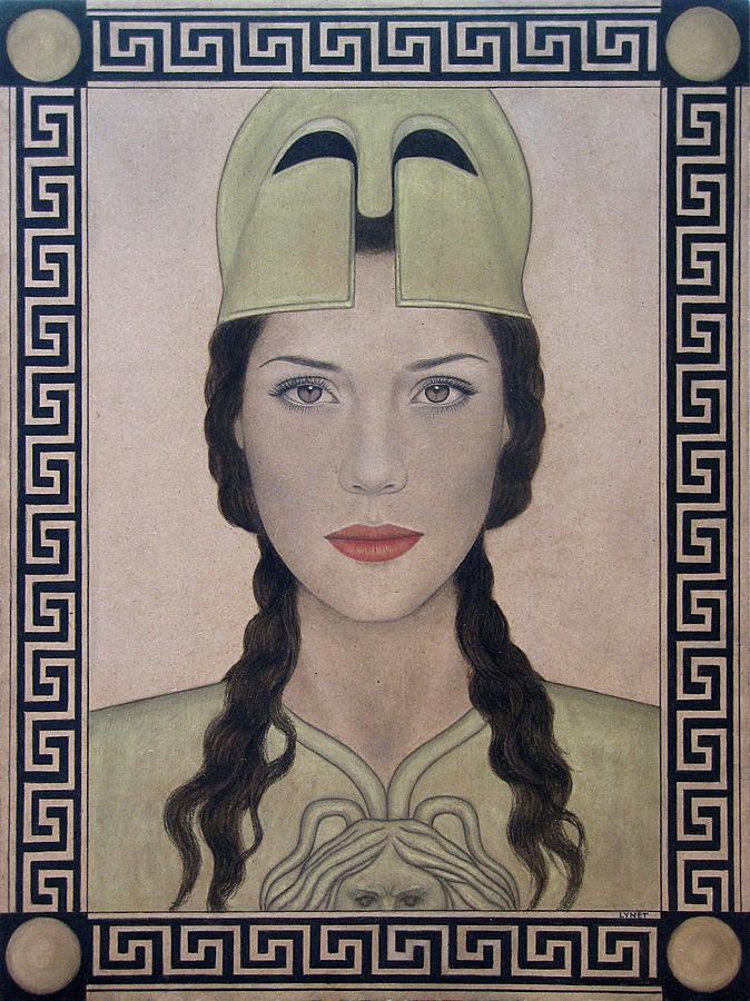 Athena Painting - Athena by Lynet McDonald