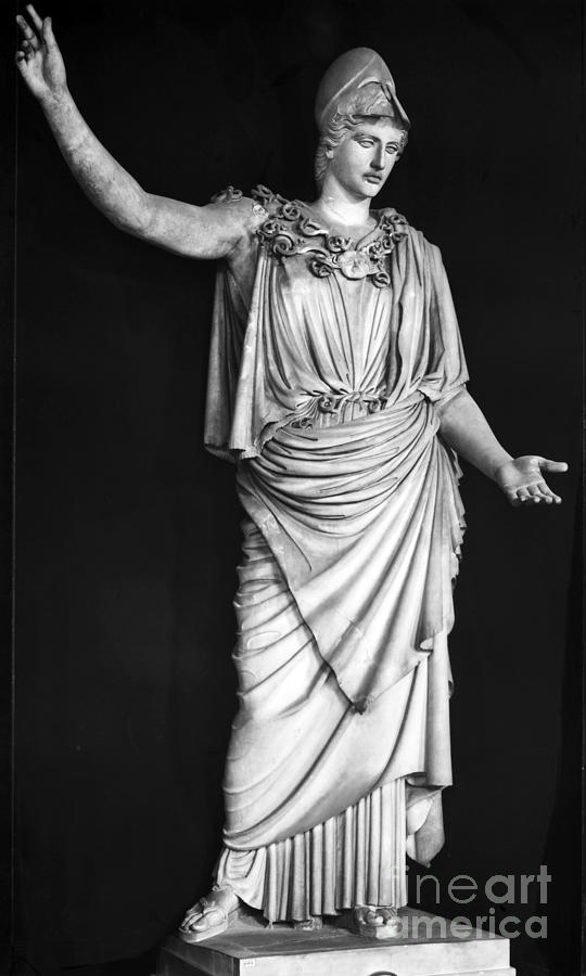 1st Century Photograph - Athena Or Minerva by Granger