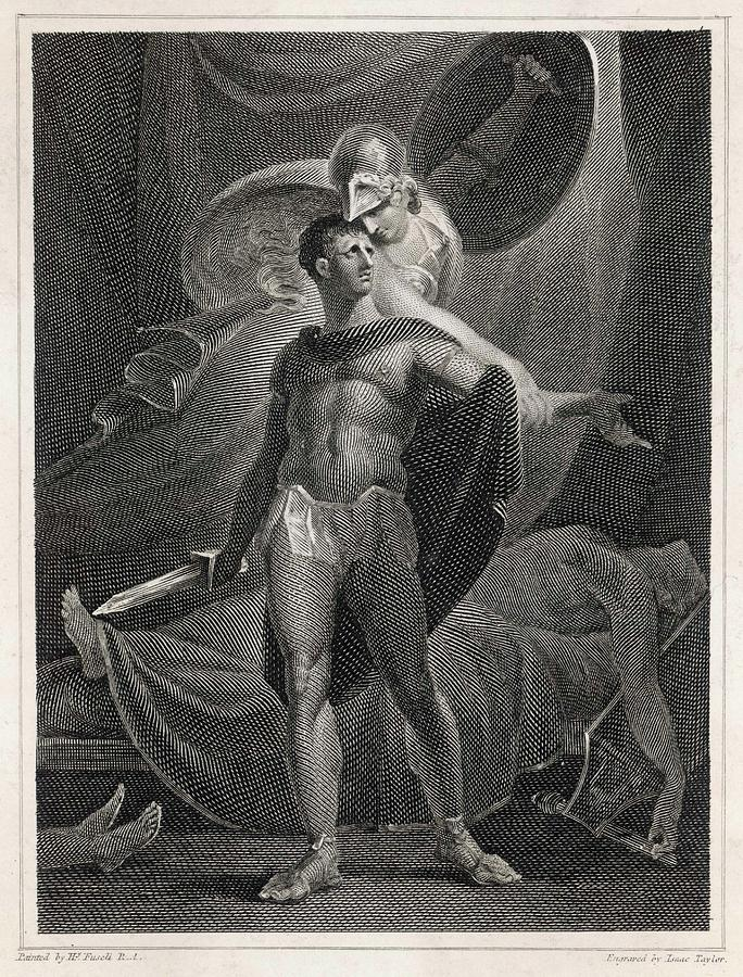 Diomedes Drawing - Athena/minerva Advises  Diomedes - Who by Mary Evans Picture Library