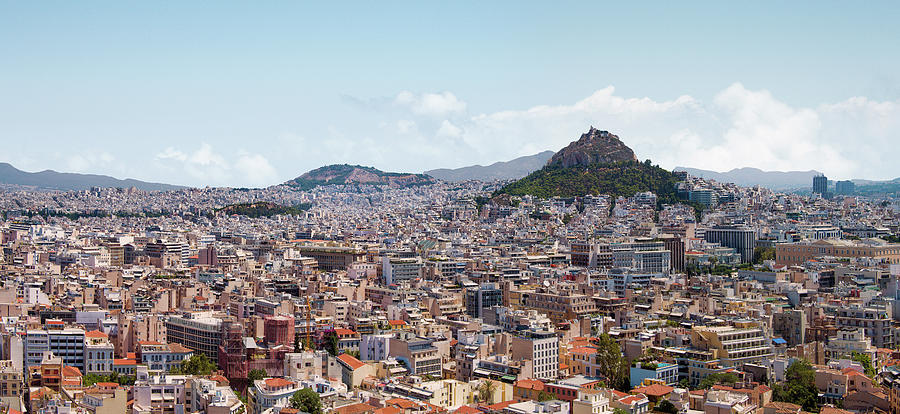 Athens Panorama View From The Acropolis Photograph by Ed Freeman