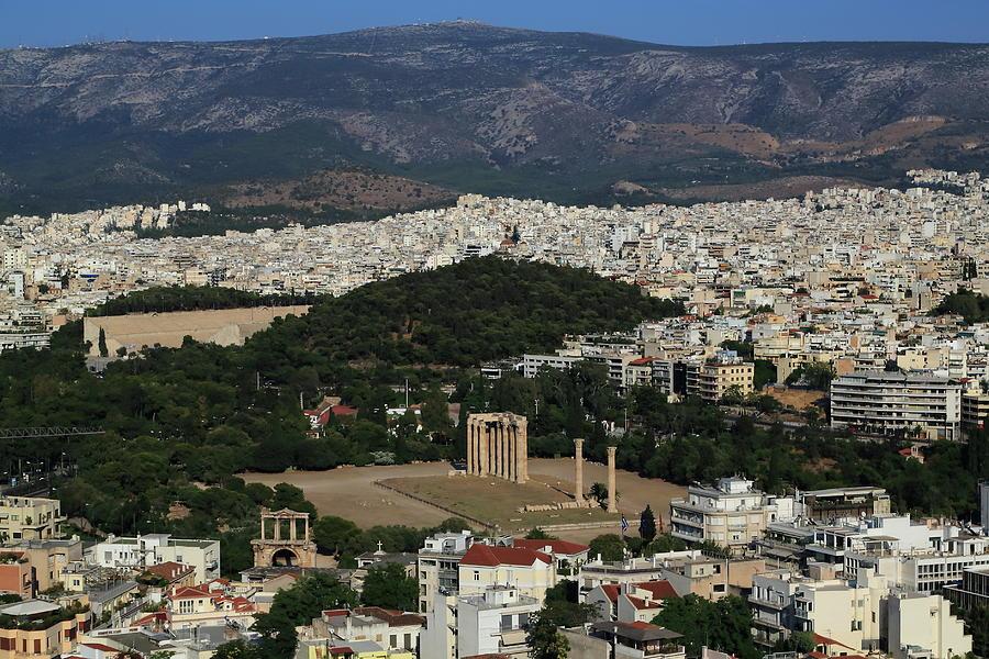 Athens View From Acropolis Photograph by Iñigo Escalante
