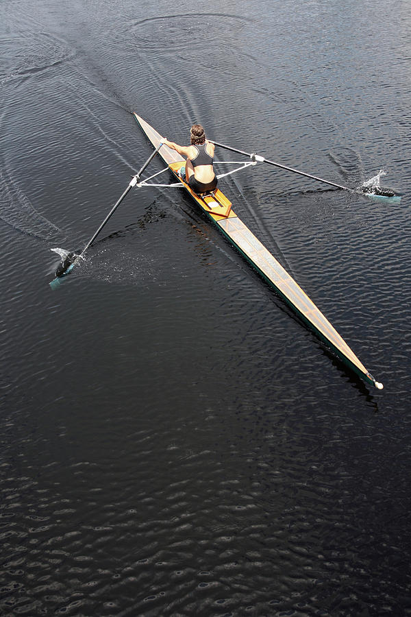 Athlete Rowing And Sculling Photograph by Shanekato