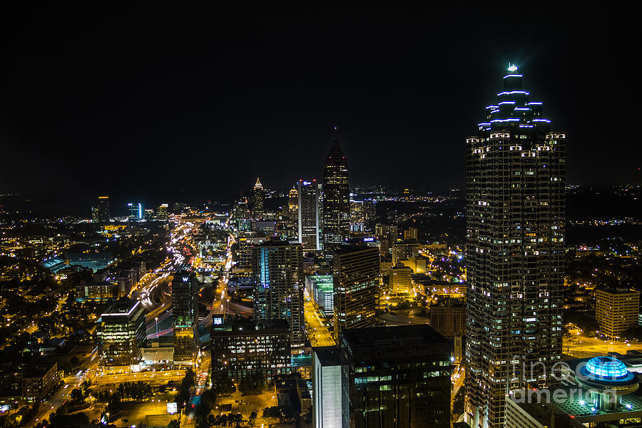 Atlanta City Lights Photograph By Sophie Doell