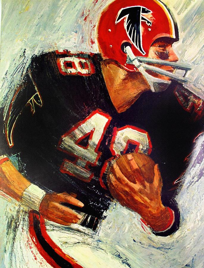 Atlanta falcons 1966 vintage print painting by big 88 artworks for Atlanta mural artist