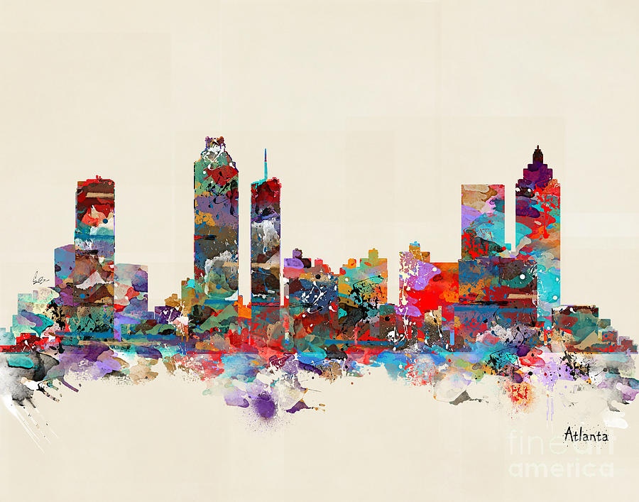Atlanta City Painting - Atlanta Georgia Skyline by Bri Buckley