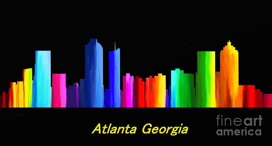 Atlanta Skyline Painting - Atlanta Skyline by Guy  Cannon