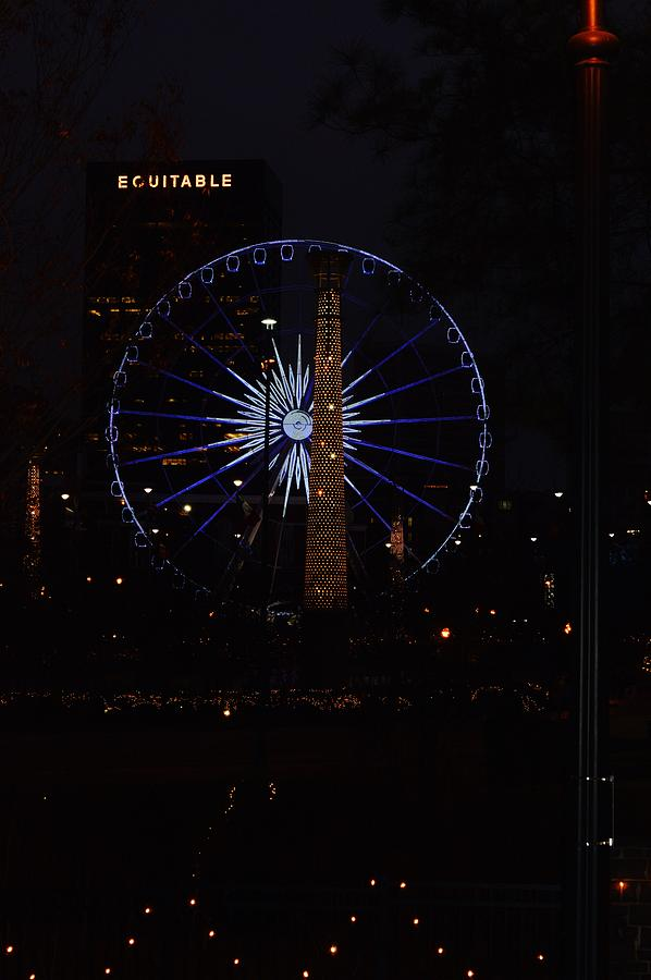Ferris Wheel Photograph - Atlanta Skyline by Tara Miller
