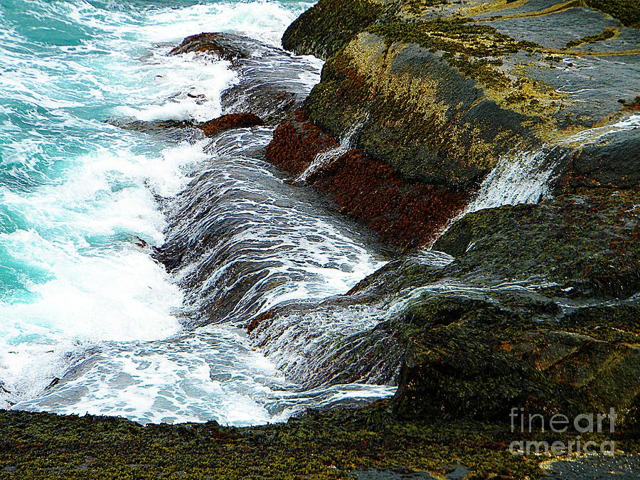 Atlantic Blue On The Rocks Photograph by Lorraine Heath