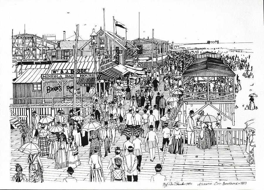 Atlantic City Boardwalk 1890