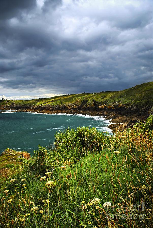 Ocean Photograph - Atlantic Coast In Brittany by Elena Elisseeva