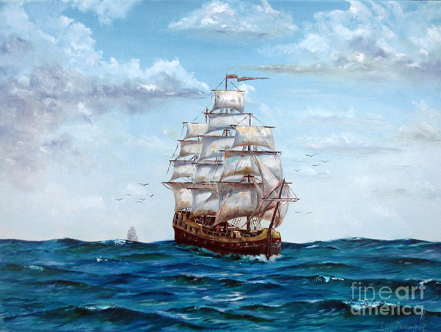 Lee Piper Painting - Atlantic Crossing  by Lee Piper