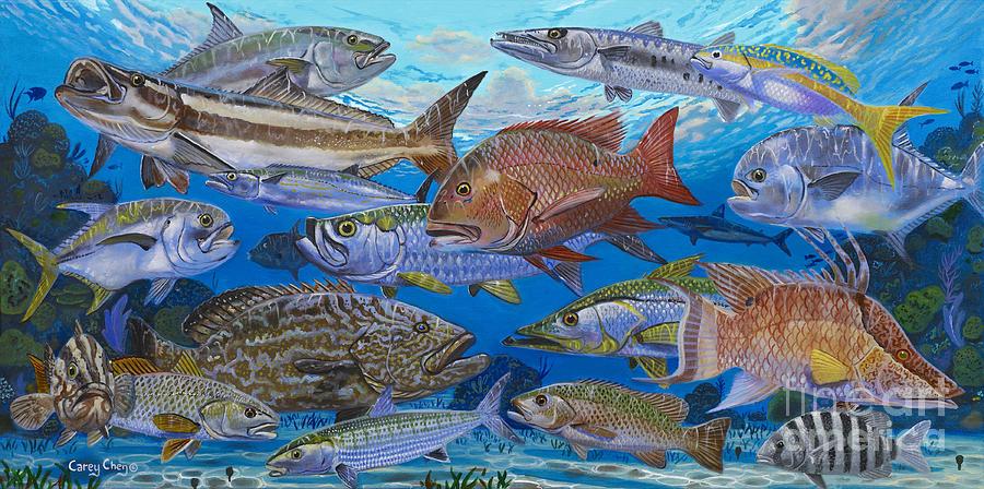 Atlantic Inshore Species In0013 Painting