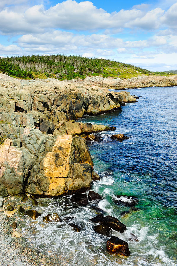 Canada Photograph - Atlantic Shoreline by Don and Bonnie Fink