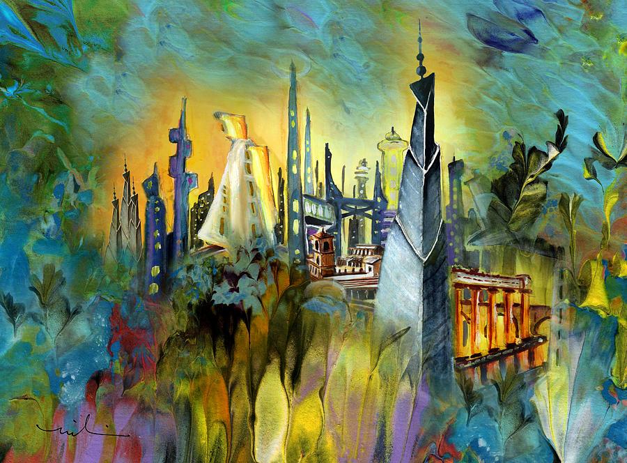 Fantasy Painting - Atlantis by Miki De Goodaboom