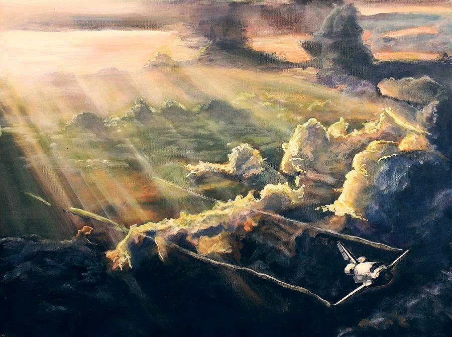 Nasa Painting - Atlantis by Simon Kregar