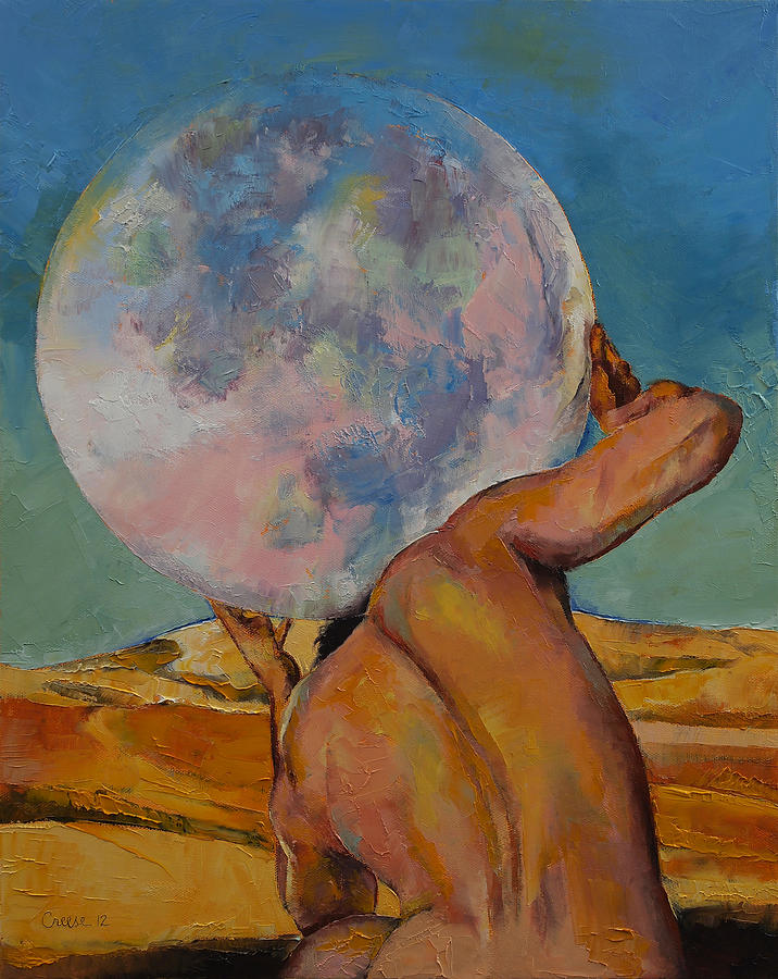 Atlas Painting - Atlas by Michael Creese