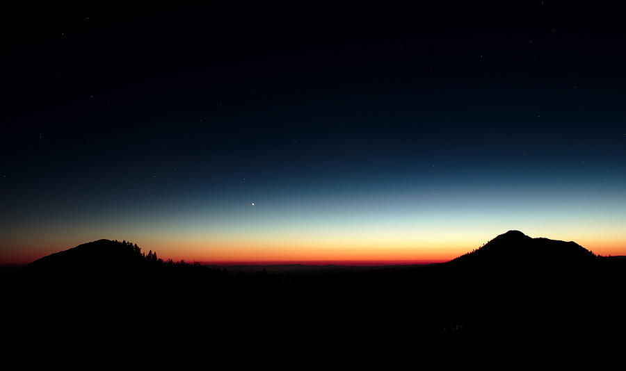 Sunset Photograph - Atmosphere Can Be Seen From Up Here by Nathan Anglin
