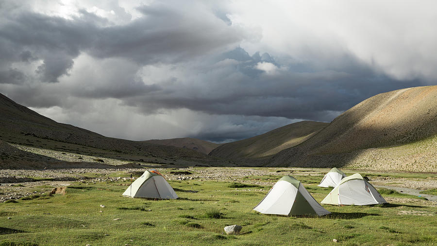 Atmospheric Grassy Camping Photograph by Jamie Mcguinness - Project Himalaya
