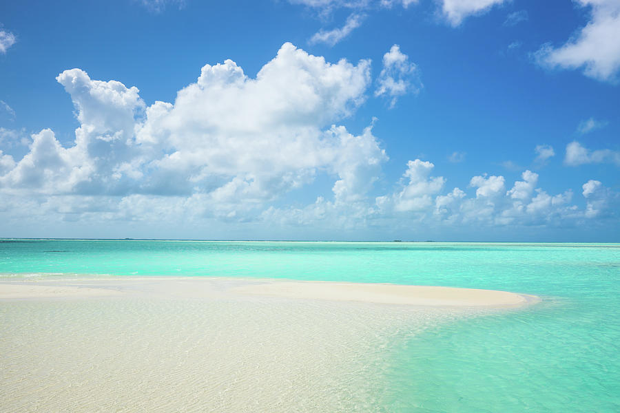 Atoll Lagoon Sand Bank Turquoise Clear Photograph by Mlenny