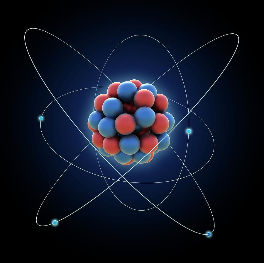 Atom, Artwork Digital Art by Science Photo Library - Andrzej Wojcicki
