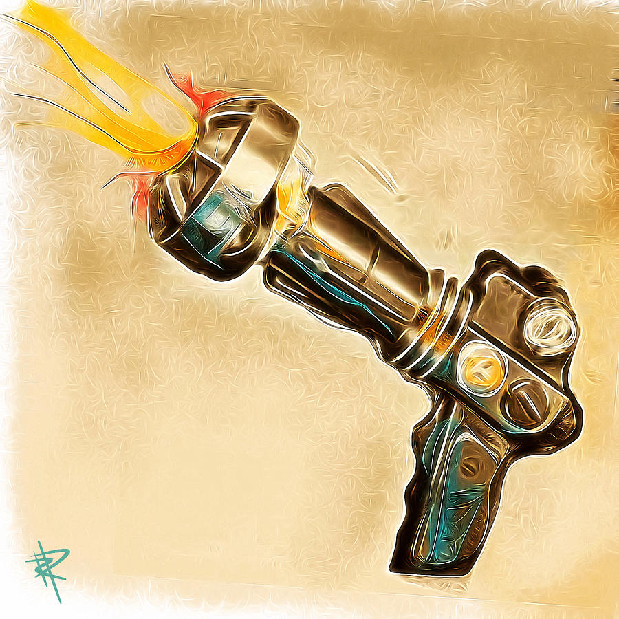 Ray Gun Mixed Media - Atomic Blaster by Russell Pierce