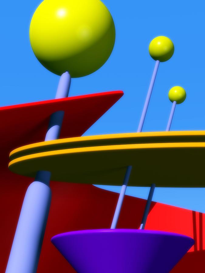 Atomic Age Digital Art - Atomic Dream by Richard Rizzo