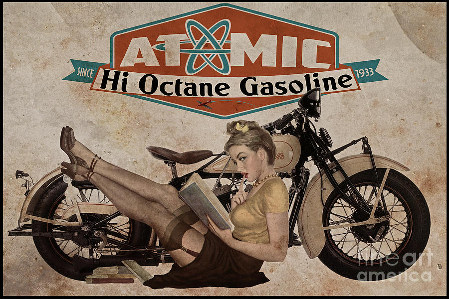 Pinup Painting - Atomic Gasoline by Cinema Photography