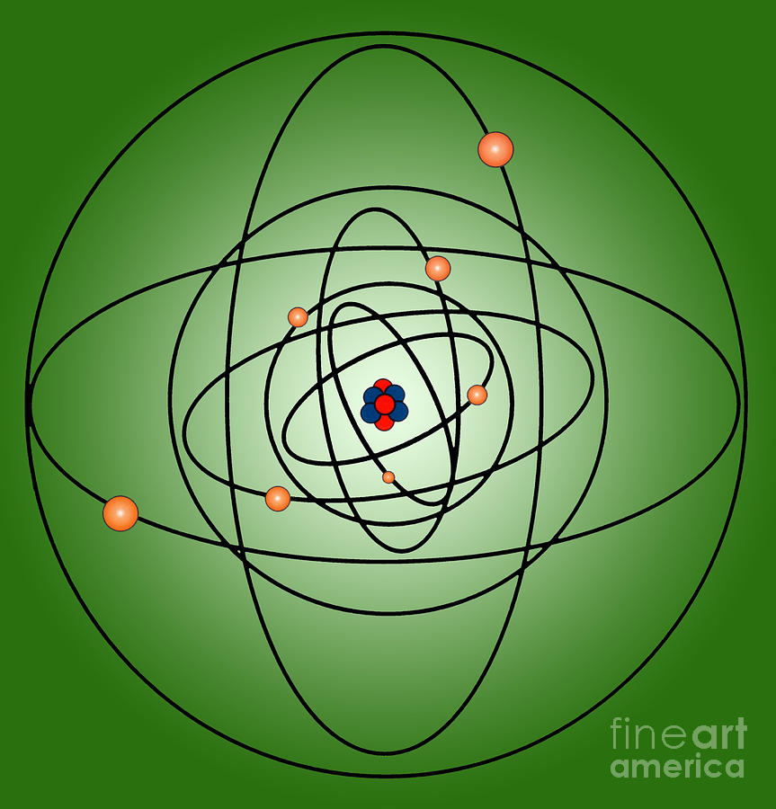 Science Photograph - Atomic Structure Model by Science Source