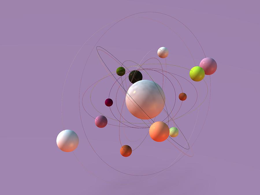 Atoms orbiting Photograph by Boris SV