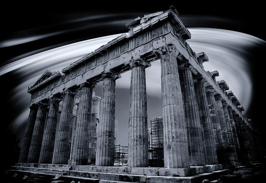 Ruins Photograph - Atop The Acropolis by Micah Goff