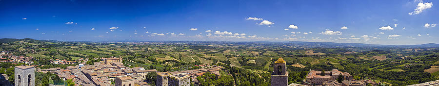 Italy Photograph - Atop The Bell Tower In San Gimignano by Rick Starbuck