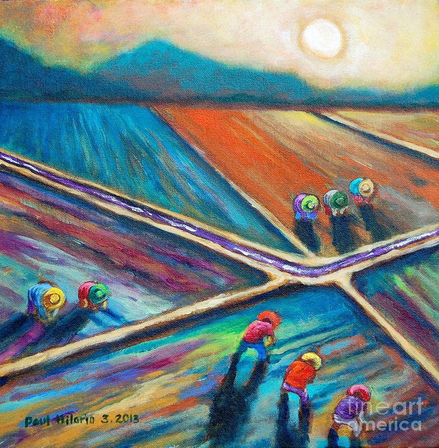 Paul Hilario Painting - Atras Backward by Paul Hilario