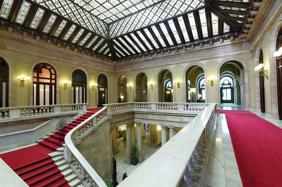 Atrium, Catalonia Parliament Building Photograph by Cultura Rm Exclusive/quim Roser