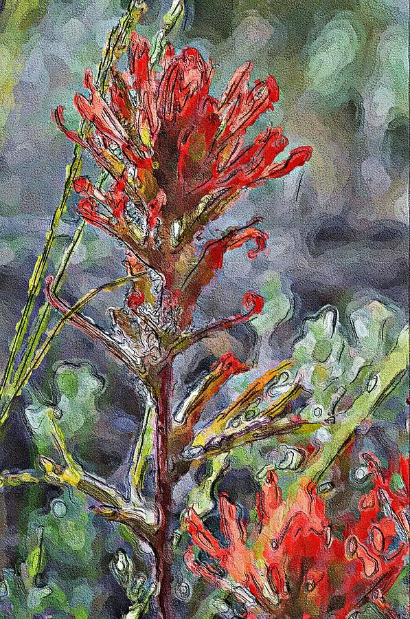Attention Dear Red Painterly by Lisa Holland-Gillem