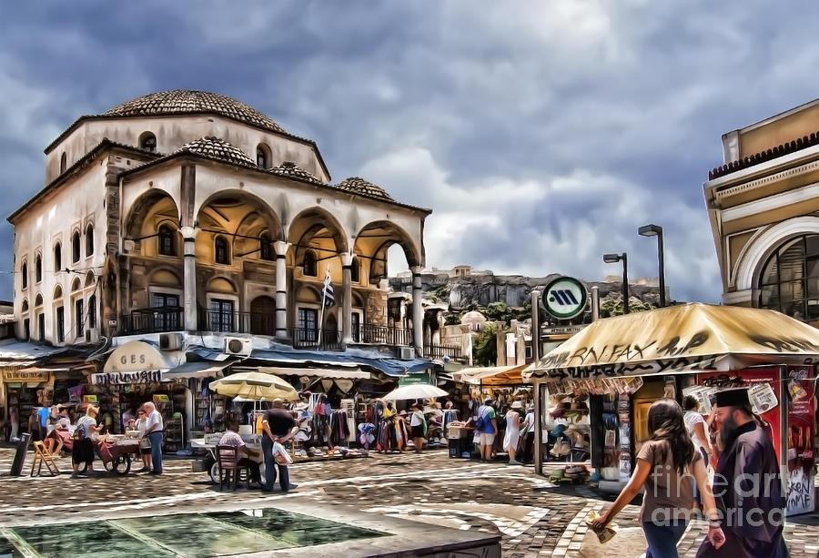 Attiki Metro Station Athens Photograph