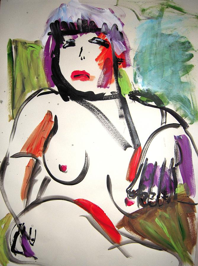Nude Painting - Attitude by Elaine Schloss