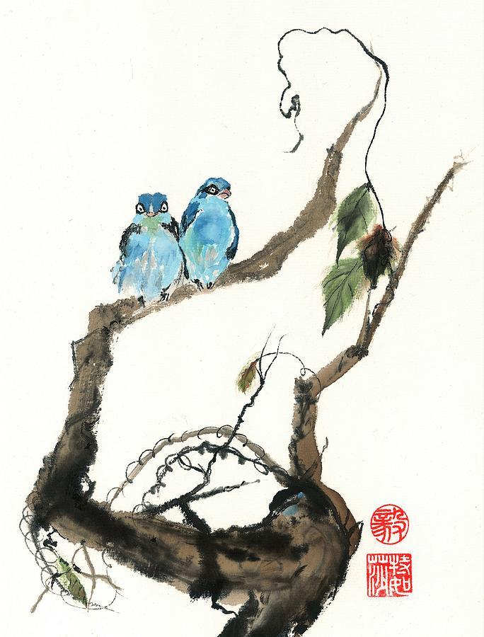 Birds Painting - Attitude by Terri Harris