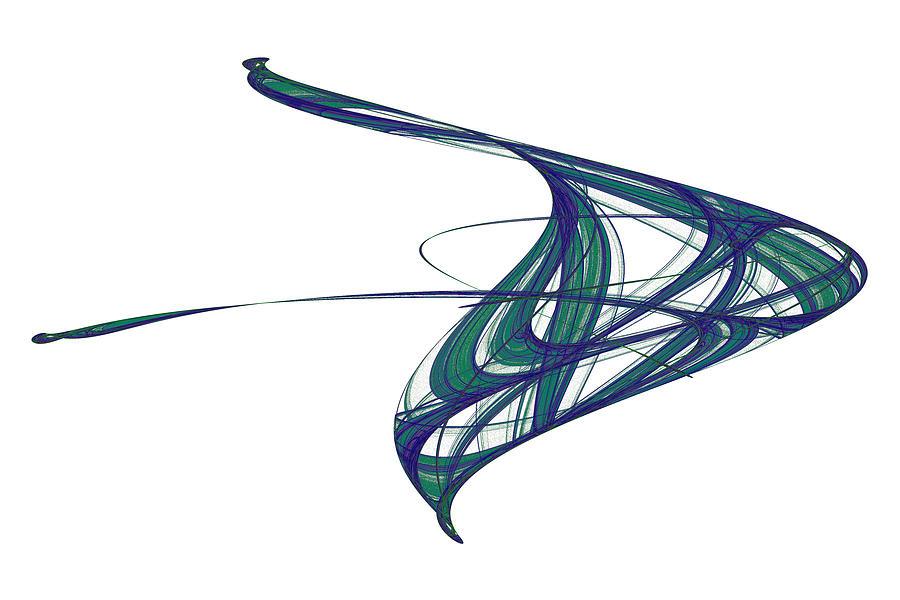 Abstract Digital Art - Attractor No. 29 by Mark Eggleston
