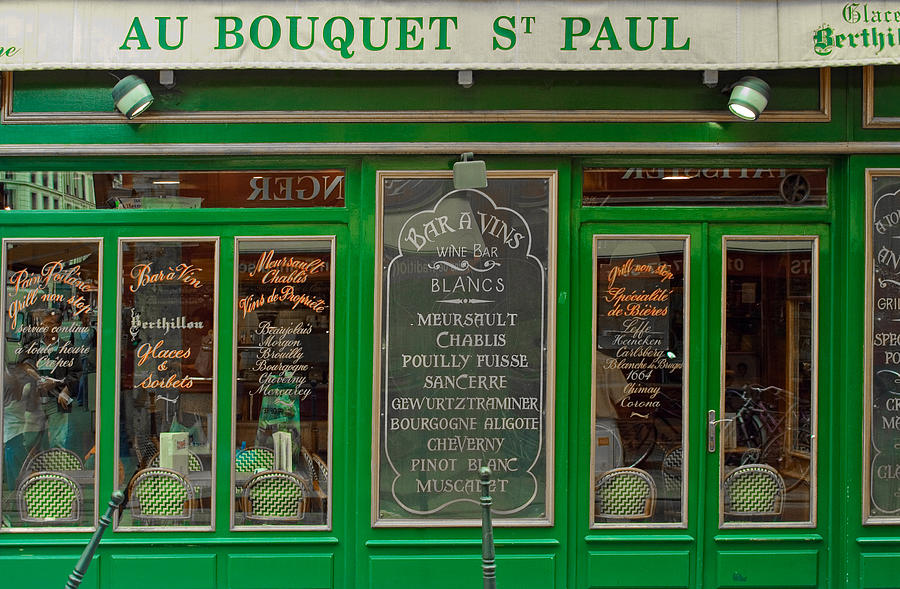 French Cafe Photograph - Au Bouquet St. Paul by Matthew Bamberg