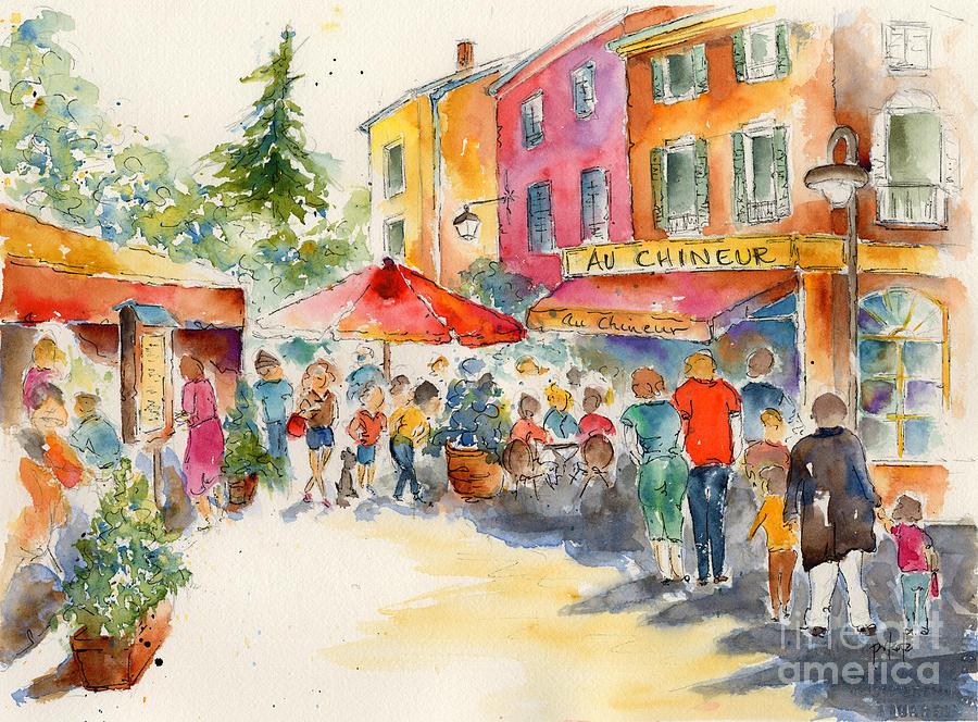 Au Chineur Painting - Au Chineur by Pat Katz