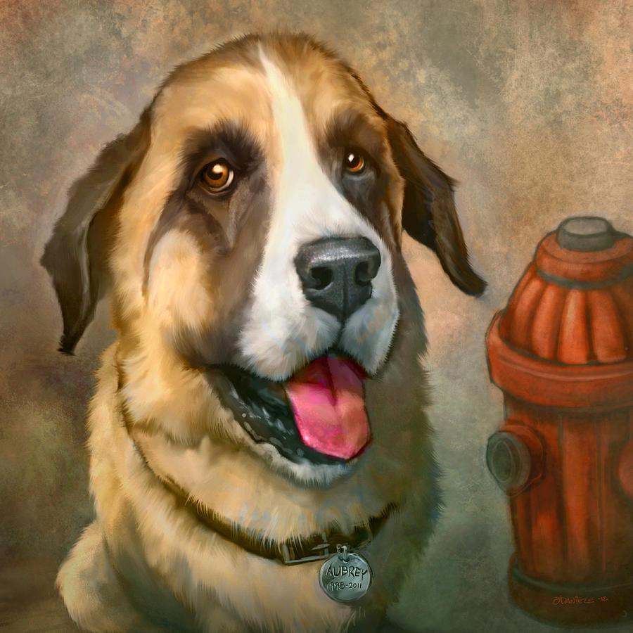 Dog Painting - Aubrey by Sean ODaniels