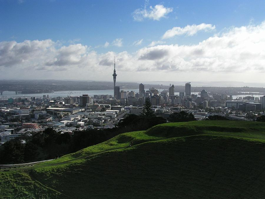 Mt. Eden Photograph - Auckland With Mt. Eden by David and Mandy
