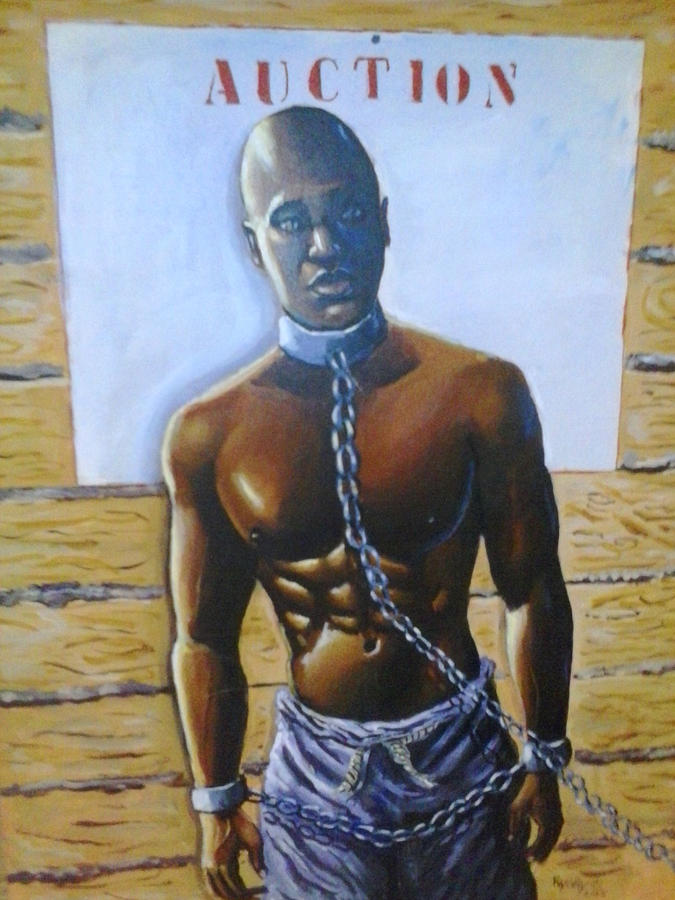 Slavery Painting - Auction Today by Barbara Gray