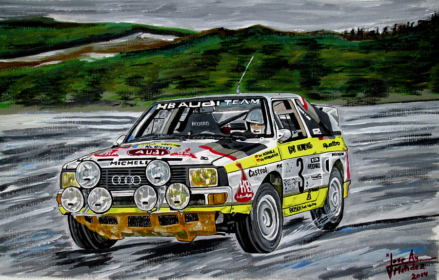 Quattro Painting - Audi Quattro by Jose Mendez